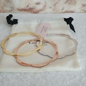 New kate spade Slender Pave Scallop Bracelets (3)